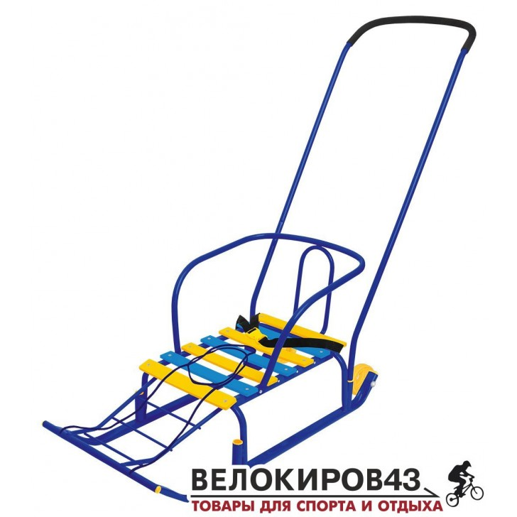 Санки с колесиками «Тимка 5 комфорт» (арт. Т5К) Синие