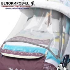 Санки-коляска Ника-Детям. Модель НД 7-3. Скандинавский стиль. Бирюзовый цвет