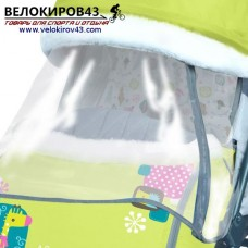 Санки-коляска Ника-Детям. Модель НД 7-2. Рисунок - Жираф. Лимонный цвет