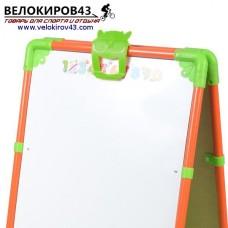 Мольберт детский М1. Цвет - оранжевый. Рисование маркером и магнитная поверхность