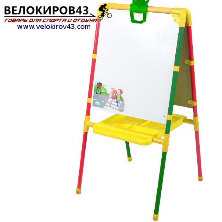 Мольберт детский М1. Цвет - светофор. Рисование маркером и магнитная поверхность