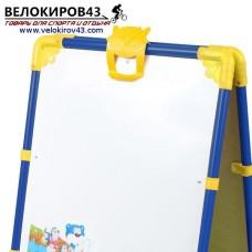 Мольберт детский М1. Цвет - синий. Рисование маркером и магнитная поверхность