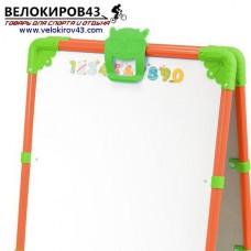 Мольберт детский двухсторонний М2. Цвет - оранжевый. Магнитный набор в комплекте