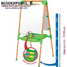 Мольберт детский двухсторонний М2. Цвет - светофор. Магнитный набор в комплекте