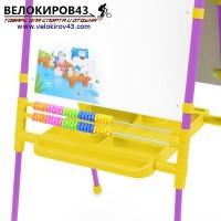 Мольберт детский двухсторонний М2. Цвет - сиреневый. Магнитный набор в комплекте