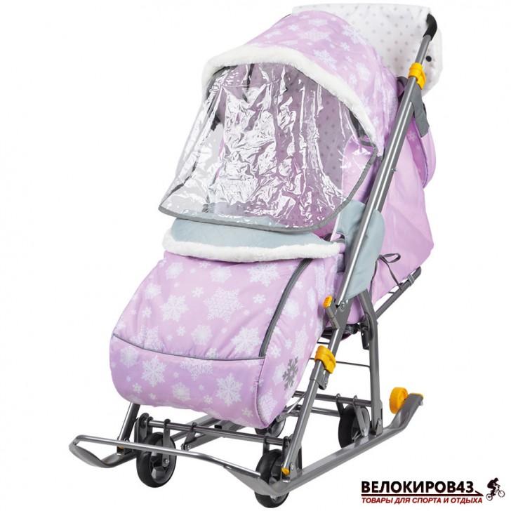 Санки-коляска Ника-Детям. Модель  «Наши детки» НДТ/2 розовый