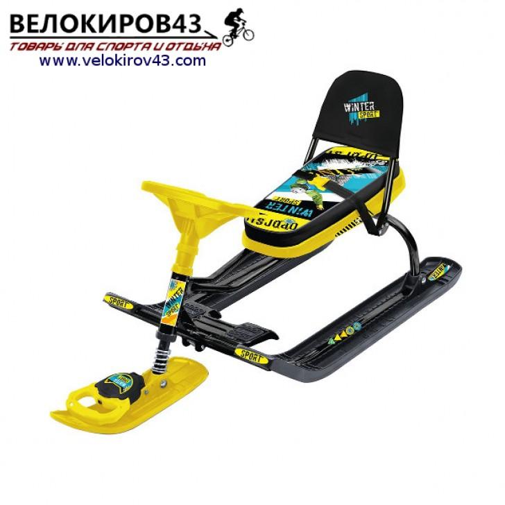 Снегокат «Тимка спорт 4-1» (ТС4-1). Расцветка Winter Sport - черный каркас