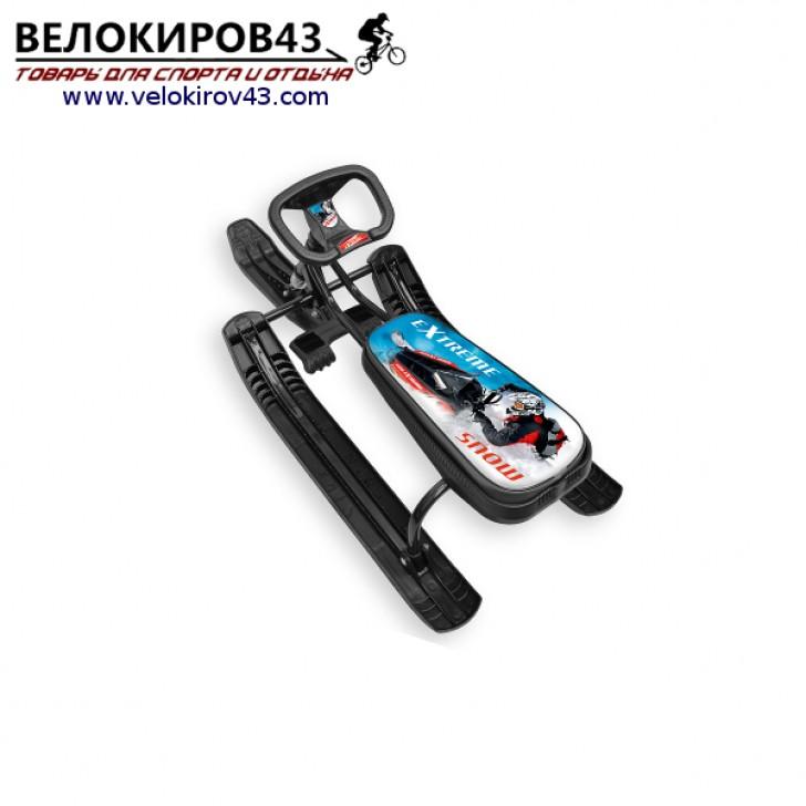 Снегокат «Тимка спорт 1» (ТС1). Расцветка гонки - черный каркас