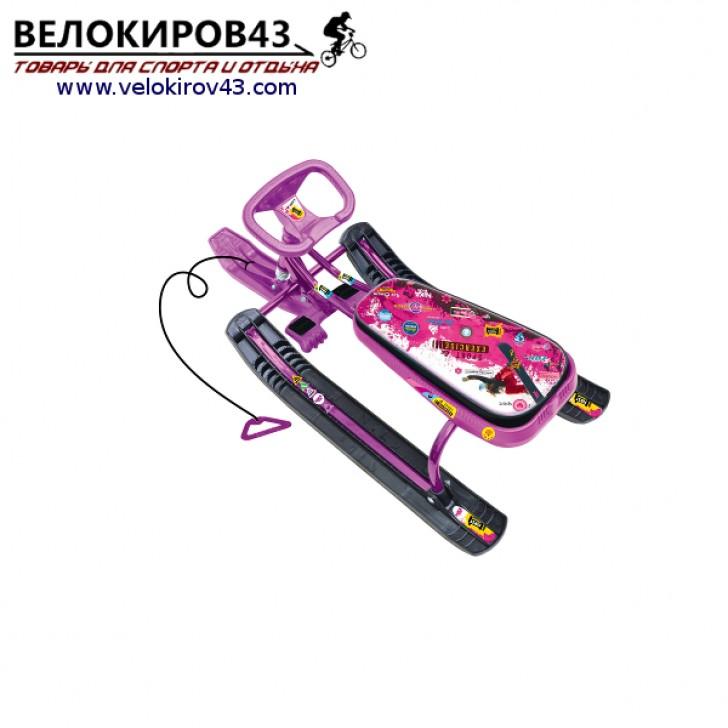 Снегокат «Тимка спорт 1» (ТС1). Расцветка пинк - каркас сиреневого цвета