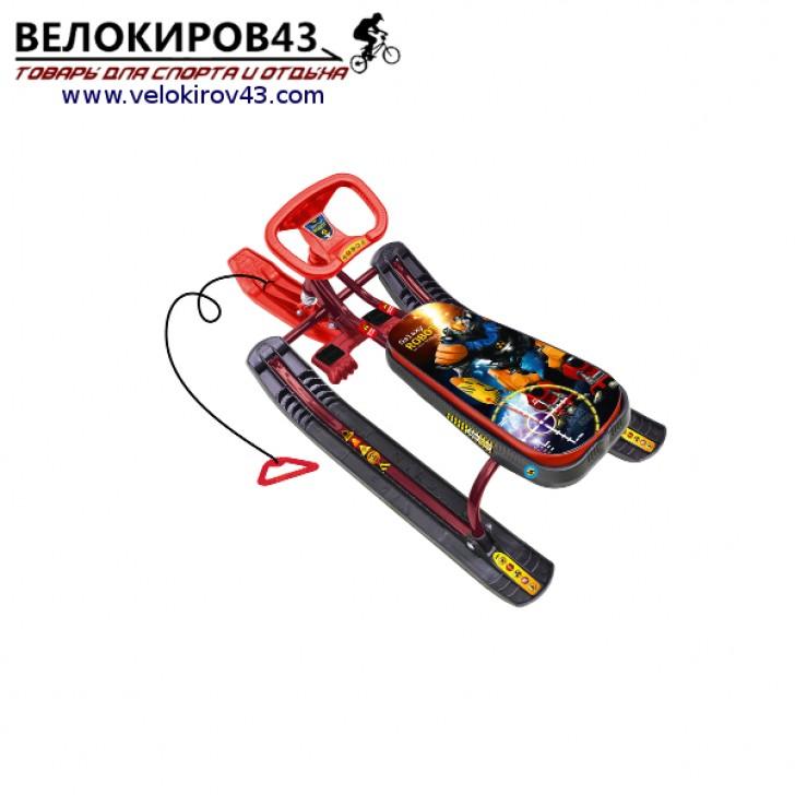 Снегокат «Тимка спорт 1» (ТС1). Расцветка с роботом - каркас бордового цвета