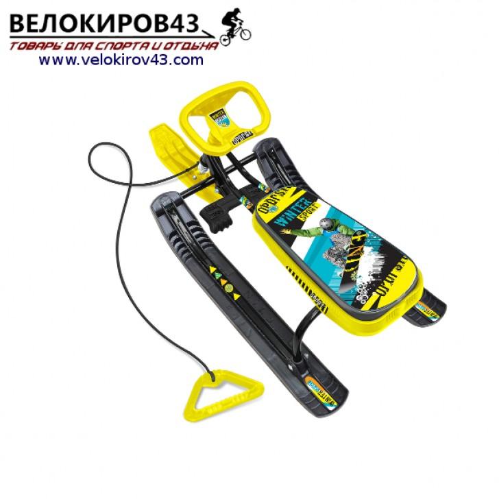 Снегокат «Тимка спорт 2» (ТС2). Расцветка Winter Sport - каркас черного цвета