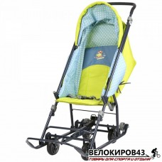 Санки-коляска  «Ника детям »  «Disney baby 1» C тигром лимонный