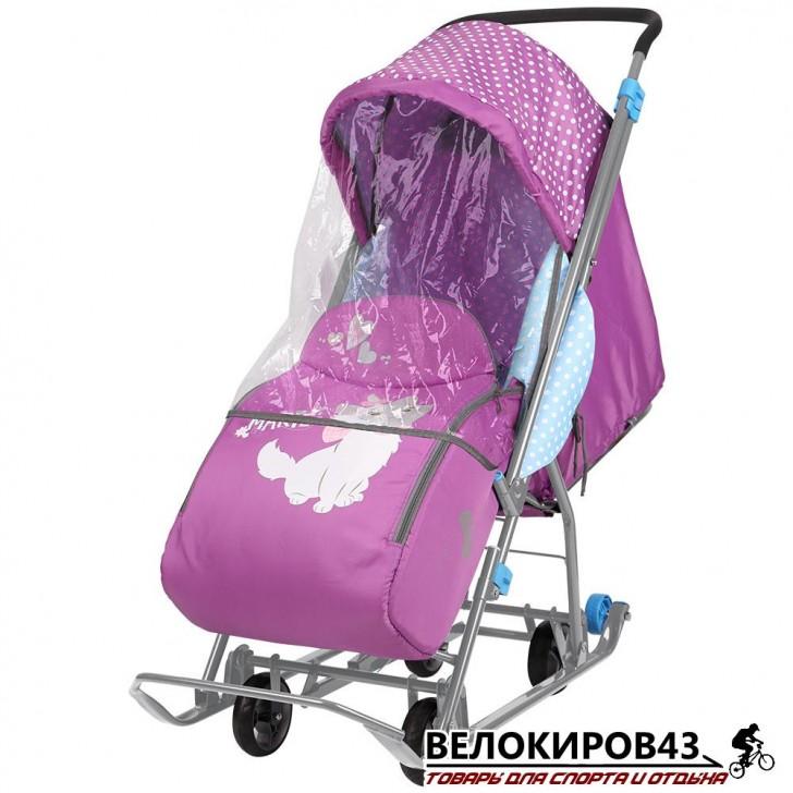 Санки-коляска  «Ника детям »  «Disney baby 1» C мари орхидея