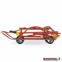 Санки с колесами Модель «Nikki 3» (арт. N3) Красные