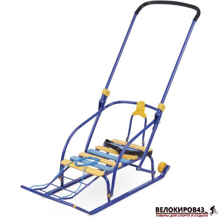 Санки с колесиками Модель «Nikki 2» (арт. N2) синие