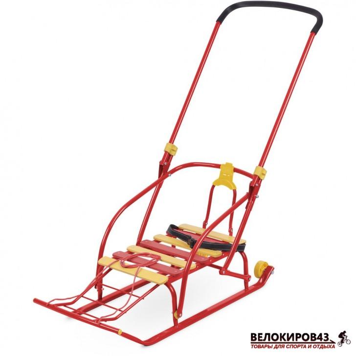 Санки с колесиками Модель «Nikki 2» (арт. N2) Красные