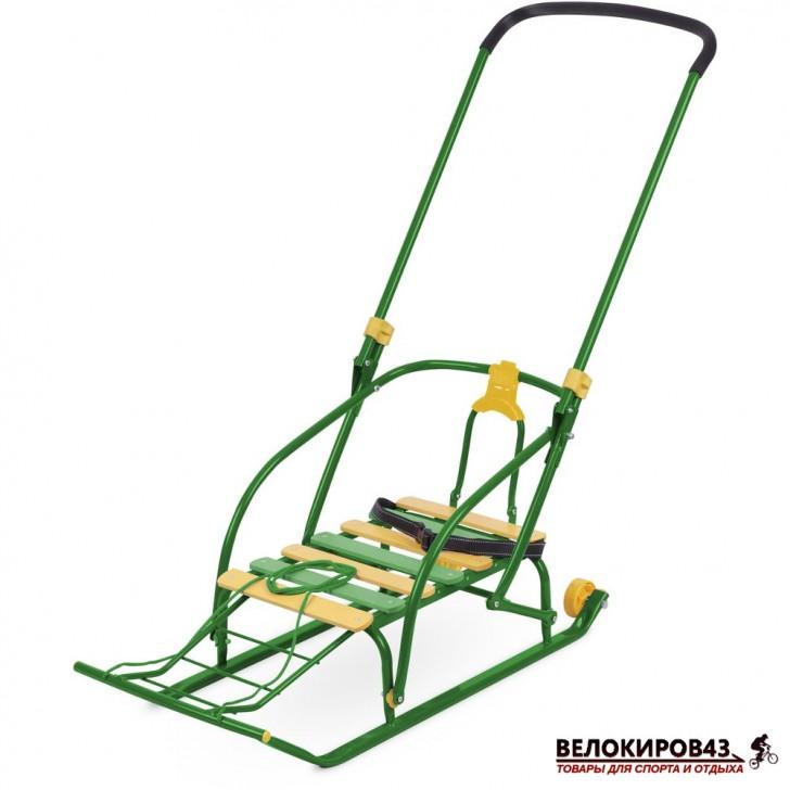 Санки с колесиками  Модель «Nikki 2» (арт. N2) Зеленые