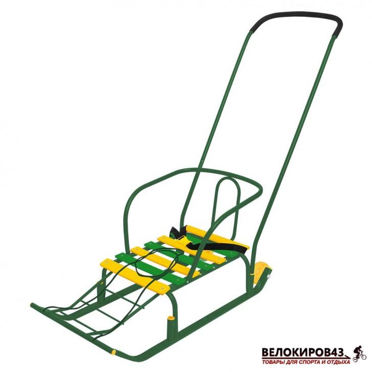 Санки с колесиками «Тимка 5 комфорт» (арт. Т5К) зеленые