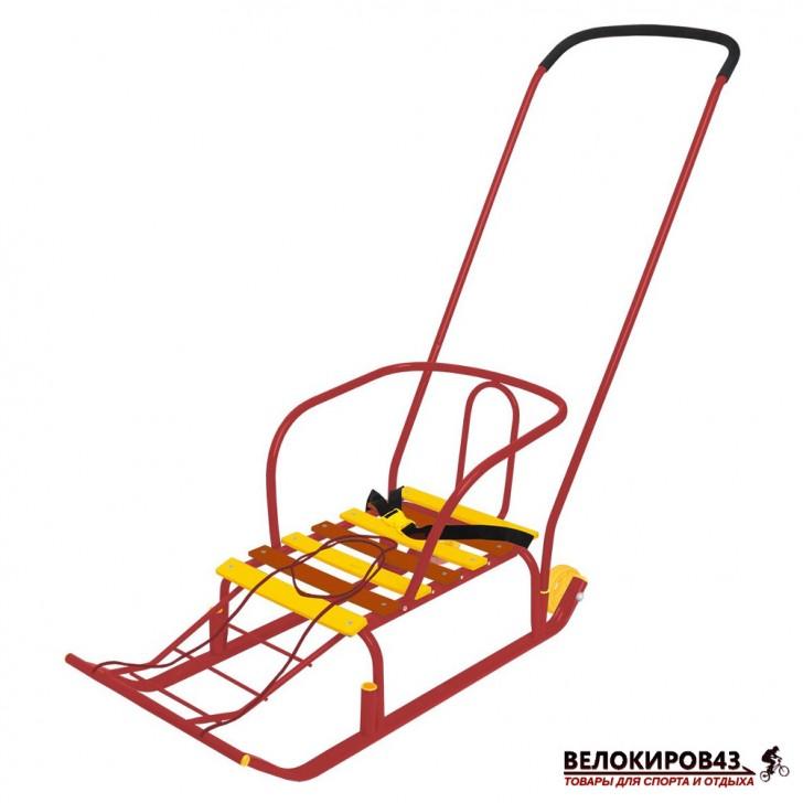 Санки с колесиками «Тимка 5 комфорт» (арт. Т5К) красные