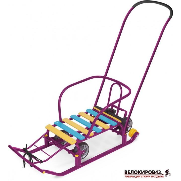 Санки с колесами  «Тимка 5 универсал» (арт. Т5У) Фиолетовые