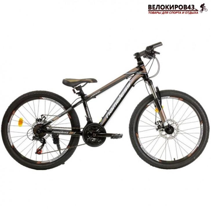 """Велосипед 24"""" Nameless J4100D чёрный/коричневый"""