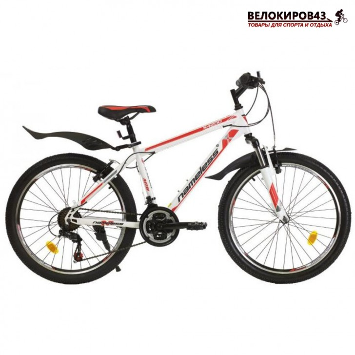 """Велосипед 24"""" Nameless S4200 белый/красный"""