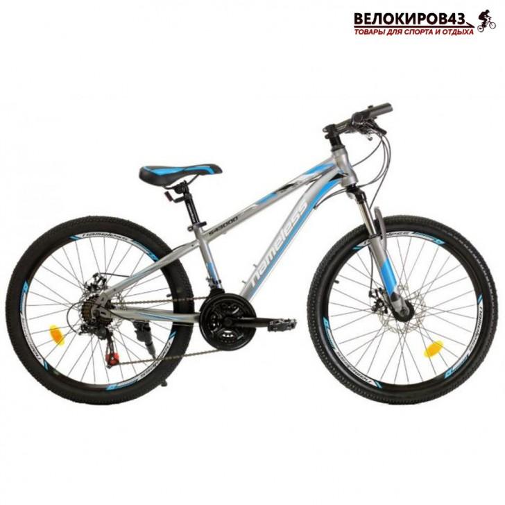 "Велосипед 24"" Nameless S4300D серый/голубой"