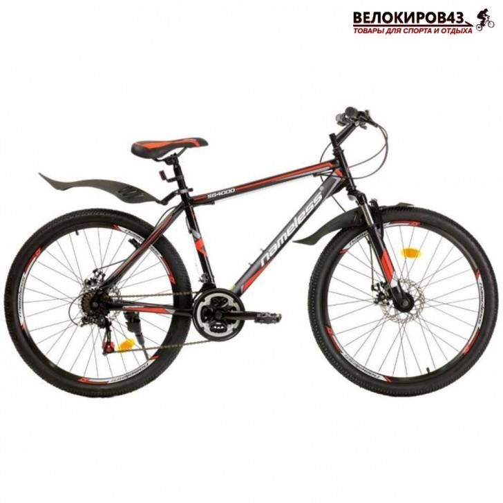 """Велосипед 26"""" Nameless S6400D чёрный/красный"""