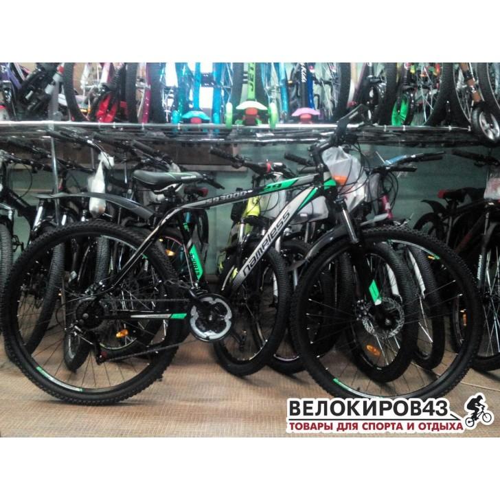 Велосипед 29 Nameless S9300D чёрный/зелёный