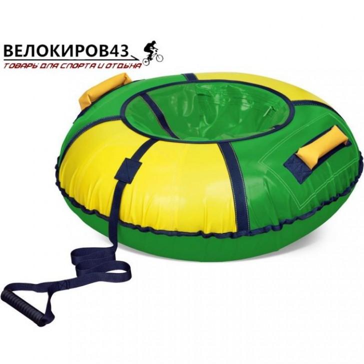 Тюбинг классик арт. ТБ1К-85 (диаметр чехла 930 мм) Зелёный с жёлтым