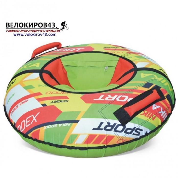Тюбинг с красочным дизайном ТБ2К-70 (диаметр чехла 780 мм). Расцветка Nika sport - зеленый цвет
